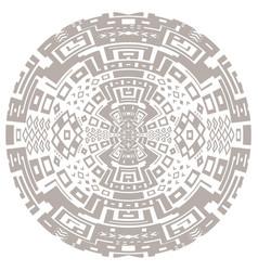 circular decorative geometric ethnic pattern vector image vector image