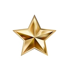 hand drawing gold star with five rays elegant vector image