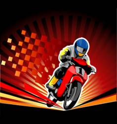 road race vector image vector image