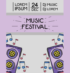 rock festival event music concert vector image