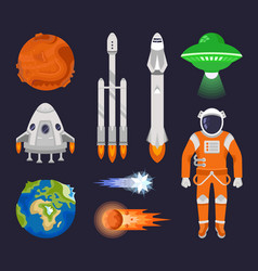 set of elements of space vector image