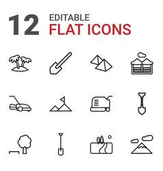 12 landscape icons vector