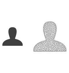 2d mesh spawn persona and flat icon vector