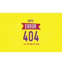 404 error web page design page not found vector image