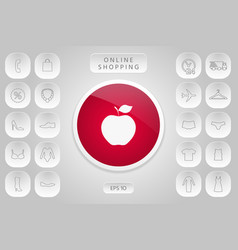 apple icon symbol vector image