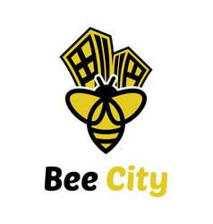 Bee logo template icon design vector