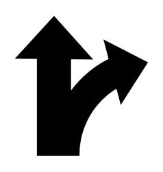 bifurcation traffic sign icon vector image