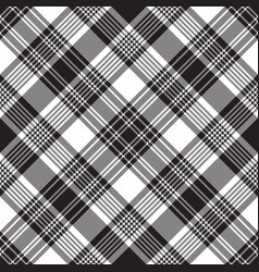Black check diagonal plaid seamless pattern vector