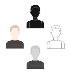 boy icon cartoonblack single avatarpeaople icon vector image