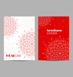 Brochure template layout design abstract vector