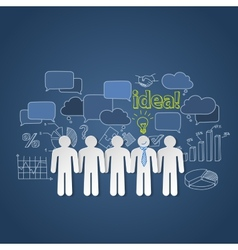 Business people discussion group teamwork idea vector image