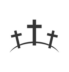 Calvary icon vector