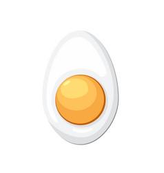Cartoon egg isolated vector