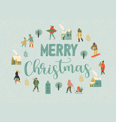christmas and happy new year whit vector image