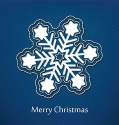christmas postcard design with denim jeans vector image vector image