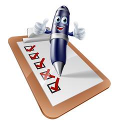 Clip board survey cartoon vector