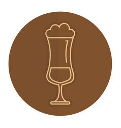 Cold coffee cup isolated icon vector