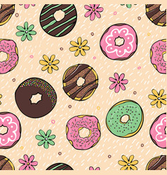 Color donate seamless pattern vector