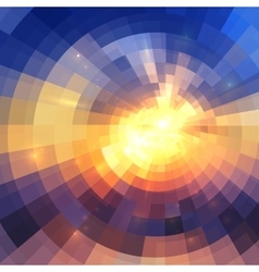 Colorful concentric shining mosaic abstract vector image vector image