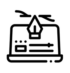 Computer maker movie settings icon outline vector