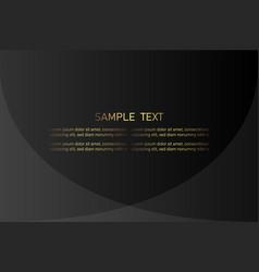 Creative black dark business card template modern vector