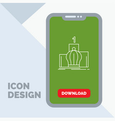Crown king leadership monarchy royal line icon in vector