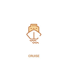 Cruise concept 2 colored icon simple line element vector