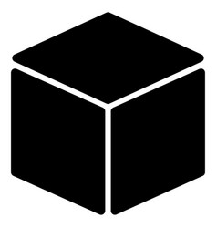 cube flat icon vector image