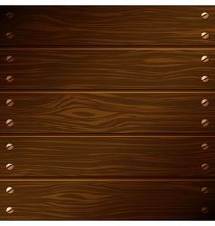 dark wooden boards vector image