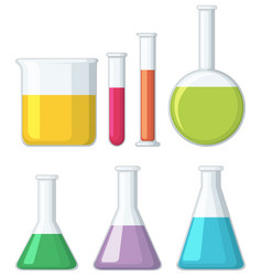 different shapes of beakers vector image