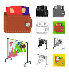 E-commerce and business cartoonblackflat vector