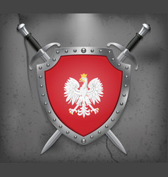 Eagle with a crown the national emblem of poland vector
