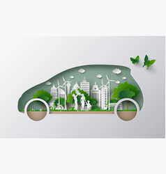 eco car concept vector image