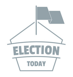 Election today logo simple gray style vector