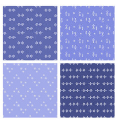 eskimo set winter seamless pattern vector image