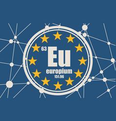 europium chemical element vector image