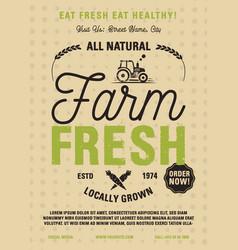 farm fresh flyer a4 format locally grown all vector image