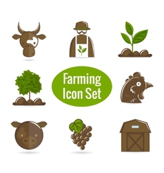 Farming icon set vector