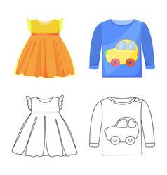 Fashion and garment symbol vector
