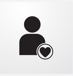 Favorite user icon for web and mobile vector