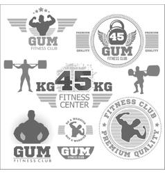 Fitness bodybuilding vintage label for flayer vector image