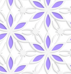 Floristic white seamless vector