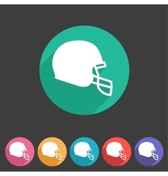football helmet flat icon sign symbol logo label vector image