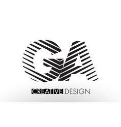 Ga g a lines letter design with creative elegant vector