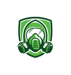 Gas mask color vector