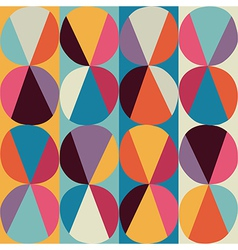 Geometric pattern circles and triangles colored vector