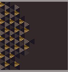 geometry gold header vector image