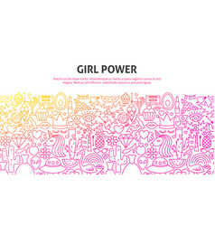 girl power concept vector image