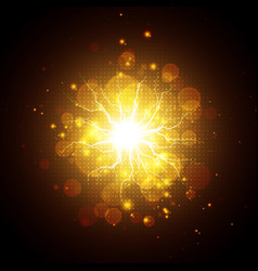 Golden glowing lights effects vector