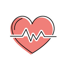 Heartbeat to know rhythm cardic and frequency vector